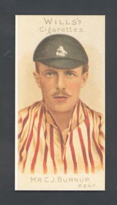 1983 Wills' Cigarettes Cricketers A Nostalgia Reprint C J Burnup trade card