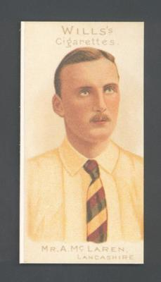 1983 Wills' Cigarettes Cricketers A Nostalgia Reprint A McLaren trade card; Documents and books; M9890.42