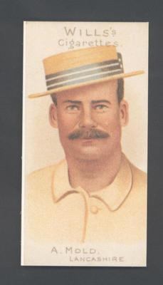 1983 Wills' Cigarettes Cricketers A Nostalgia Reprint A Mold trade card; Documents and books; M9890.44