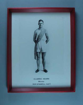 Photograph of Clarrie Hearn, 1929 Stawell Gift winner