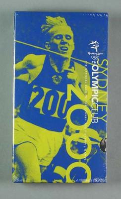 """VHS Video Cassette - """"The Official Club of the Sydney 2000 Olympic Games"""" No. 1"""
