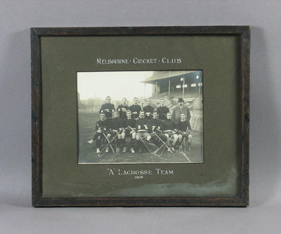 Photograph of Melbourne Cricket Club Lacrosse team, 1908
