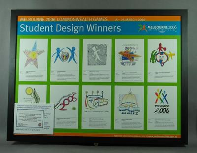 Poster - Student Design Winners,  logo for Melbourne 2006 Commomweath Games