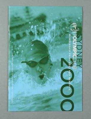 Booklet - The Olympic Club - 'Membership Privileges and Benefits'