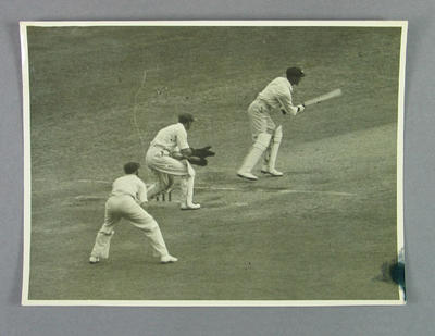 Photograph of Keith Rigg batting, Victoria v New South Wales cricket match - 28 Dec 1936