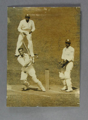 Photograph of Keith Rigg batting against West Indies, 1930-31