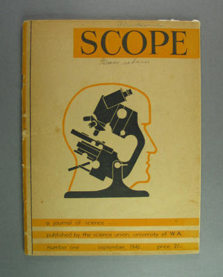 "Journal, ""Scope"" no1 Sept 1946"