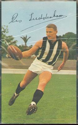 1965 Mobil VFL Footy Photos Des Tuddenham trade card