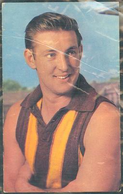 1964 Mobil VFL Footy Photos John Peck trade card