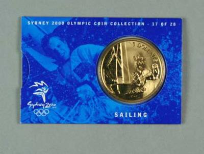 Commemorative coin, Sydney 2000 Olympic Games - Sailing; Philatelics and currency; 1998.3425.17