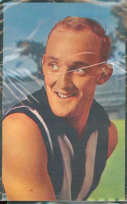 1964 Mobil VFL Footy Photos John Henderson trade card