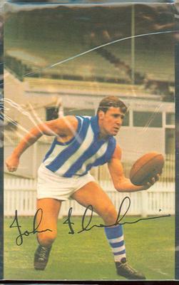 1965 Mobil VFL Footy Photos John Ibrahim trade card