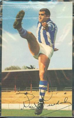 1965 Mobil VFL Footy Photos Noel Teasdale trade card