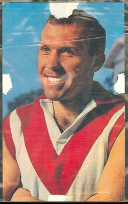 1964 Mobil VFL Footy Photos Bob Skilton trade card; Documents and books; 1986.45.19