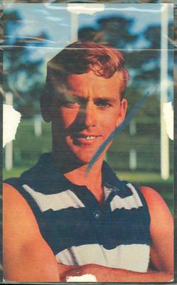1964 Mobil VFL Footy Photos Alistair Lord trade card