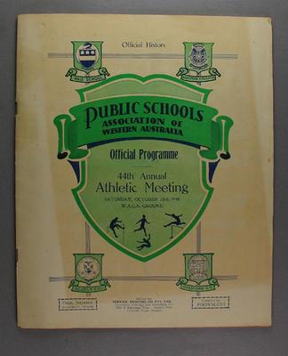 Programme, Public Schools Association of Western Australia Athletic Meeting 1948