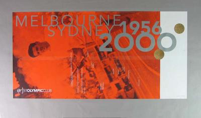 Poster -  The Olympic Club 'Melb. 1956 - Syd. 2000' with image of  Ron Clarke