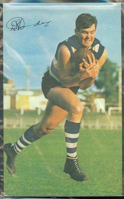 1965 Mobil VFL Footy Photos Doug Wade trade card