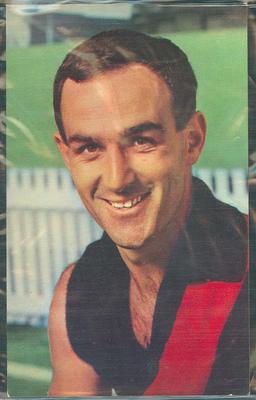 1964 Mobil VFL Footy Photos Jack Clarke trade card