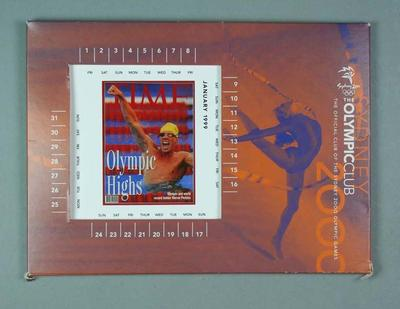 Calendar & month cards - The Olympic Club Sydney 2000 Olympic Games
