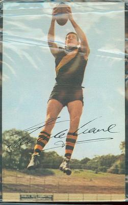 1965 Mobil VFL Footy Photos Neville Crowe trade card