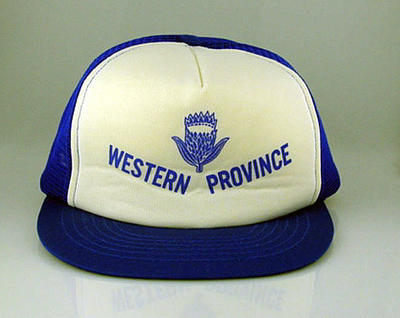 Cap - blue and white with 'Western Province' on front; Clothing or accessories; M11676