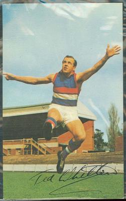 1965 Mobil VFL Footy Photos Ted Whitten trade card
