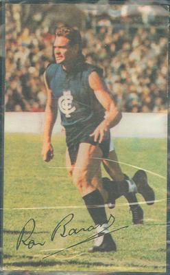 1966 Mobil VFL Footy Photos Ron Barassi trade card; Documents and books; 1986.45.34