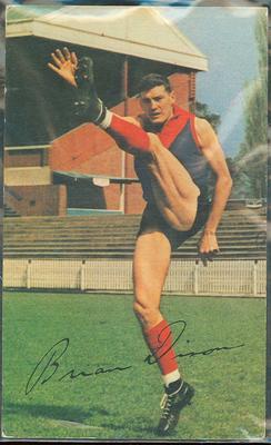 1965 Mobil VFL Footy Photos Brian Dixon trade card