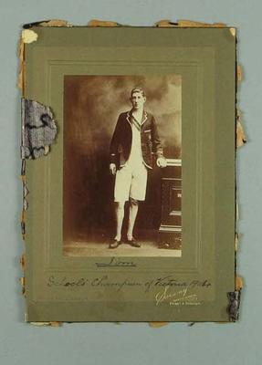 Photograph of James Brake, Schools Champion of Victoria 1904