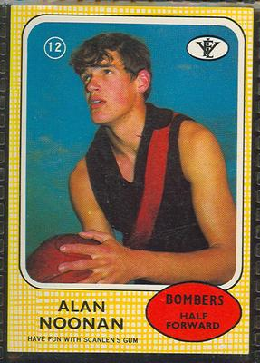 1972 Scanlen's Gum Australian Football, Alan Noonan trade card