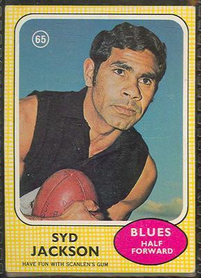 1970 Scanlen's Gum Australian Football, Syd Jackson trade card