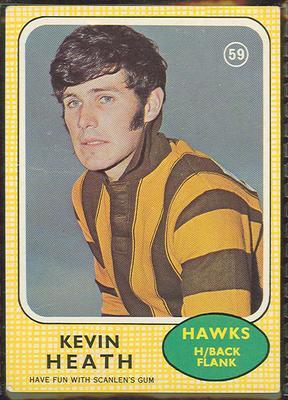 1970 Scanlen's Gum Australian Football, Kevin Heath trade card