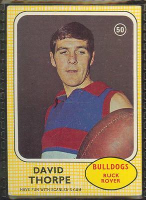 1970 Scanlen's Gum Australian Football, David Thorpe trade card; Documents and books; 1987.1811.22