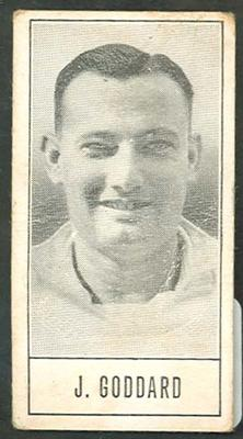 1957 Barratt & Co Ltd Test Cricketers Series B John Goddard trade card