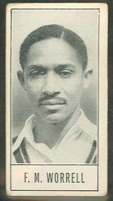 1957 Barratt & Co Ltd Test Cricketers Series B Frank Worrell trade card