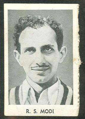 1947 Radio Fun Famous Test Cricketers R S Modi trade card