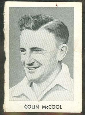 1947 Radio Fun Famous Test Cricketers Colin McCool trade card