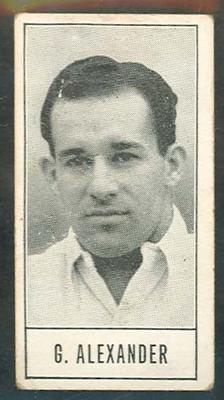 1957 Barratt & Co Ltd Test Cricketers Series B Gerry Alexander trade card