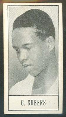 1957 Barratt & Co Ltd Test Cricketers Series B Garfield Sobers trade card