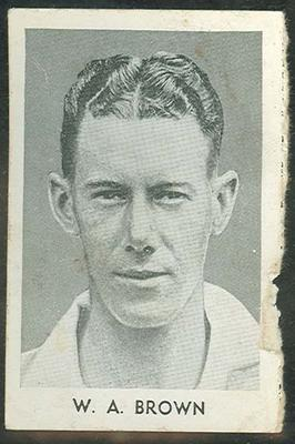 1947 Radio Fun Famous Test Cricketers W A Brown trade card