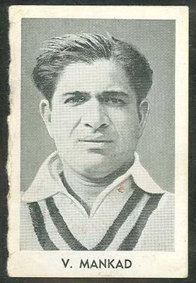1947 Radio Fun Famous Test Cricketers V Mankad trade card