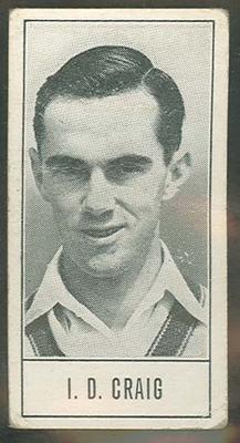 1957 Barratt & Co Ltd Test Cricketers Series B Ian Craig trade card; Documents and books; M9716.12