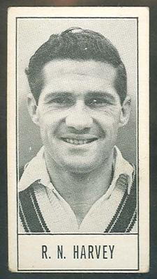 1957 Barratt & Co Ltd Test Cricketers Series B Neil Harvey trade card