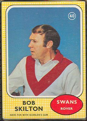 1970 Scanlen's Gum Australian Football, Bob Skilton trade card