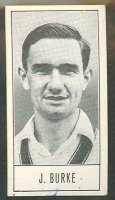 1957 Barratt & Co Ltd Test Cricketers Series B Jim Burke trade card; Documents and books; M9716.18