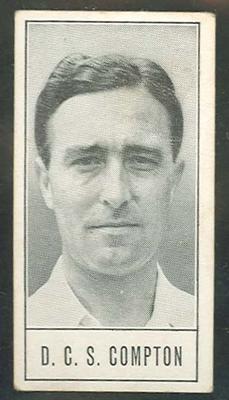 1957 Barratt & Co Ltd Test Cricketers Series B Denis Compton trade card