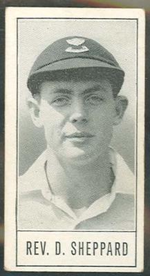1957 Barratt & Co Ltd Test Cricketers Series B David Sheppard trade card