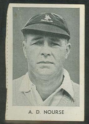 1947 Radio Fun Famous Test Cricketers D V P Wright trade card