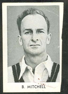 1947 Radio Fun Famous Test Cricketers B Mitchell trade card
